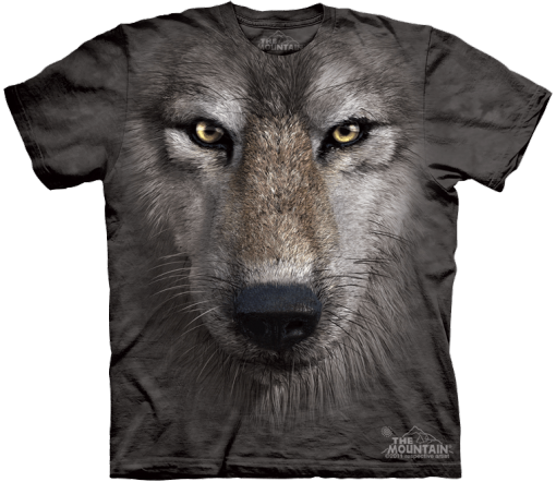 """3D Футболка The Mountain """"Wolf Face"""""""