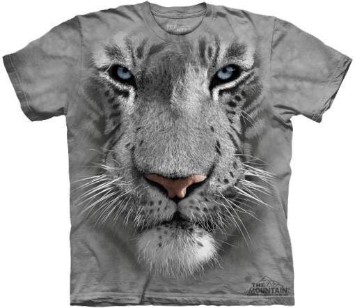 "3D Футболка The Mountain ""White Tiger Face"""